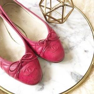 Chanel • Quilted Ballet Flats